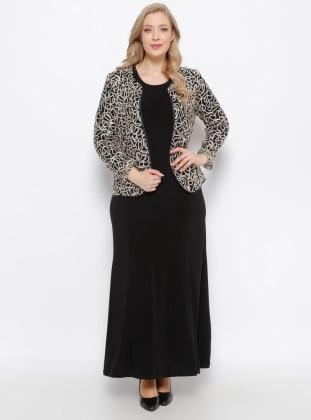 Ceket & Elbise İkili Takım - Siyah Gold
