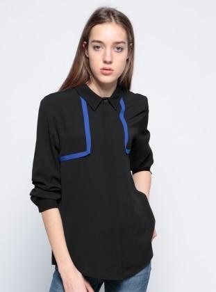 Garnili Gömlek - Siyah Koton