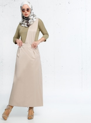 Half Lined - Beige - Dress - Refka