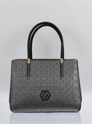 Çanta - Mat Gümüş Mat Siyah