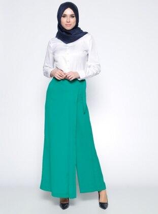 Pantolon Etek - Yeşil Tuğba