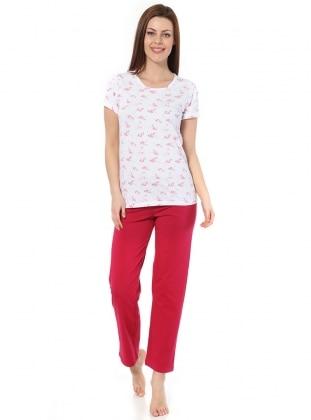 Pijama - Kırmızı Beyaz