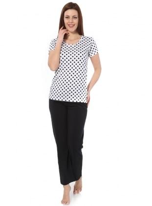 Pijama - Siyah Beyaz