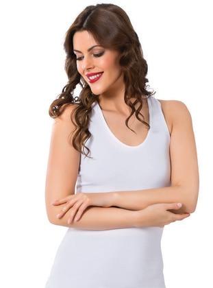 White - Corset - AKBENİZ