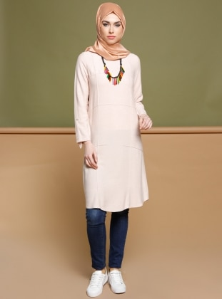 Powder - Crew neck - Tunic - Puane 270061