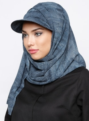 Navy Blue - Plain - Pinless - Instant Scarf