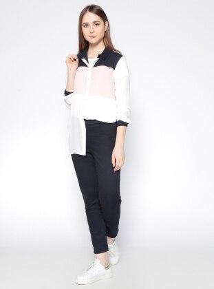 Yandan Fermuarlı Pantolon - Lacivert