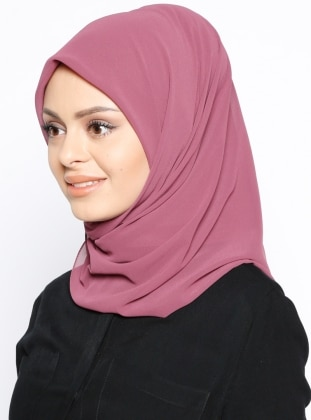 Crepe - Plain - Pink - Scarf