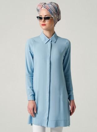 Cepli Tunik - Açık Mavi
