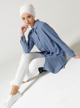 Cepli Tunik - Koyu Mavi