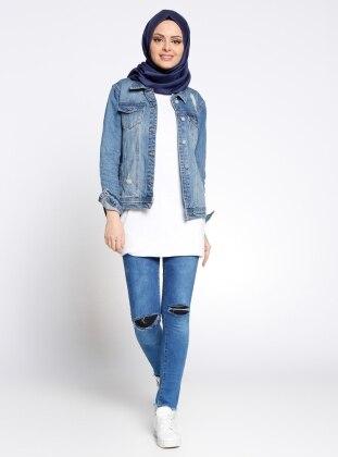 Kot Pantolon - Mavi ZDN Jeans