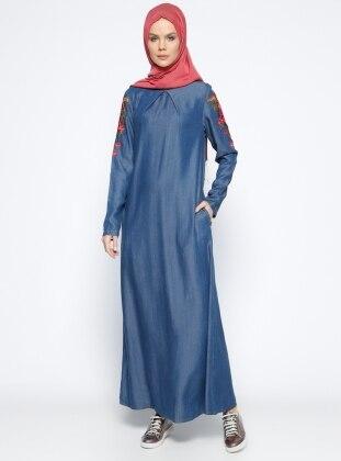 Tensel Elbise - Lacivert