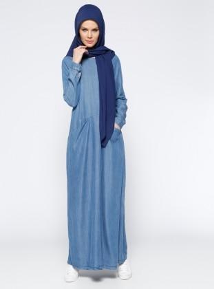Tensel Elbise - Mavi Neways