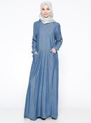 Tensel Elbise - Mavi