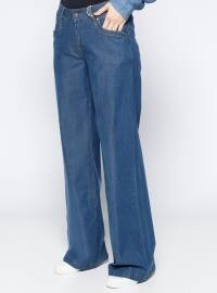 Navy Blue - Denim - Pants