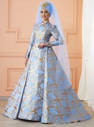 Afşar Abiye Elbise - Buz Mavi