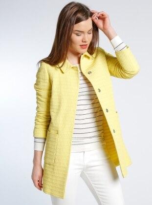 Cep Detaylı Ceket - Sarı adL