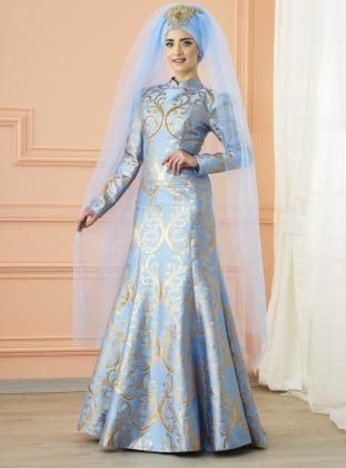 Gülce Abiye Elbise - Buz Mavi