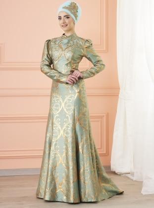 Gülce Abiye Elbise - Mint