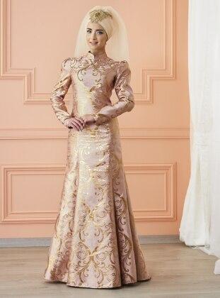 Gülce Abiye Elbise - Pudra