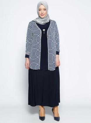 Ceket&Elbise İkili Abiye Takım - Lacivert