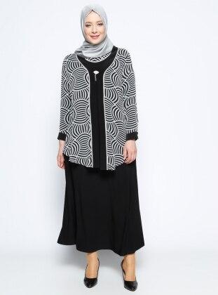 Ceket&Elbise İkili Abiye Takım - Siyah