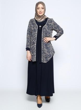 Ceket&Elbise İkili Abiye Takım - Vizon