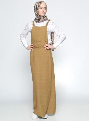 Salopet Elbise- Haki Tuğba