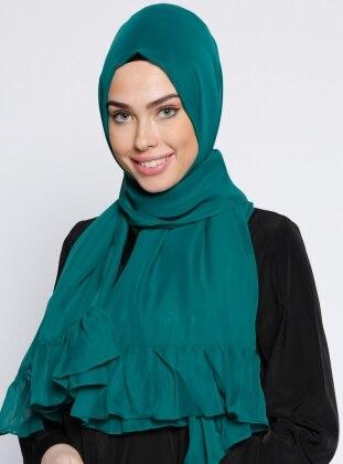 Büzgülü Şal - Yeşil