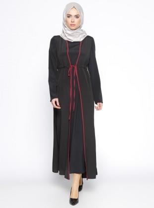 Pardesü Dünyası Yelek&Elbise İkili Takım - Siyah