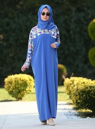 Ferace Elbise - İndigo