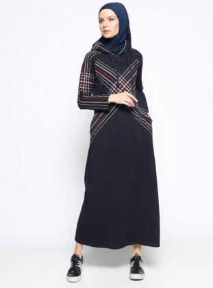 Kapüşonlu Spor Elbise - Lacivert