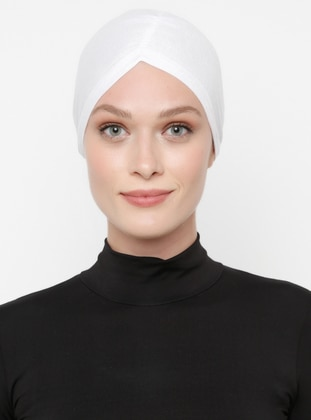 Viscose - Lace up - White - Bonnet