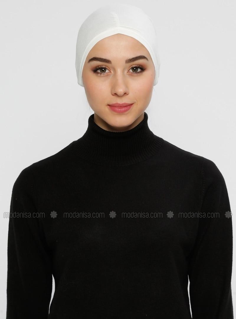 Viscose - Lace up - Ecru - Bonnet