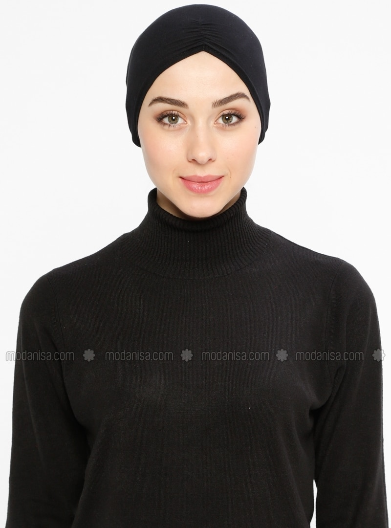 Viscose - Lace up - Black - Bonnet