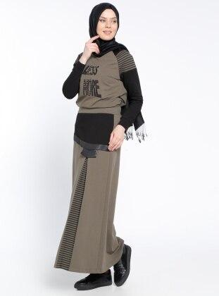 Bluz&Etek İkili Takım - Haki