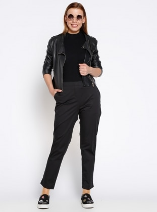 Cepli Pantolon - Siyah Koton