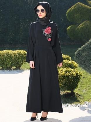 Ferace Elbise - Siyah Gabra