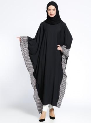 Ferace Elbise - Siyah Beyaz