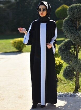 Ferace Elbise - Siyah Mavi