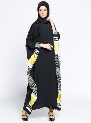 Ferace Elbise - Siyah Yeşil