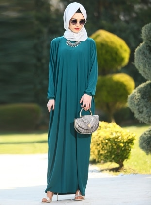 Gabra Ferace Elbise - Zümrüt