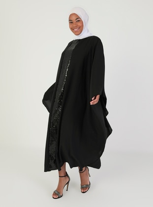 Crew neck - Black - Unlined - Dress