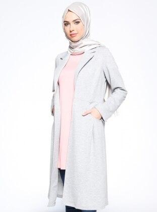 Şal Yaka Ceket - Gri