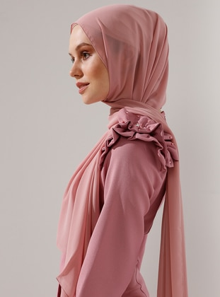 Powder - Plain - Chiffon - Shawl