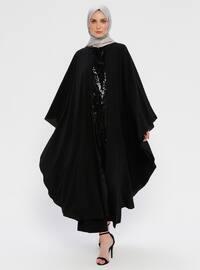 Crew neck - Black - Unlined - Dress
