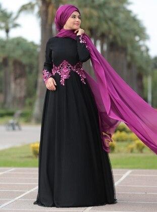 Fulyan Abiye Elbise - Siyah