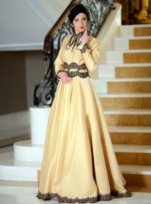 Juliet Abiye Elbise - Gold