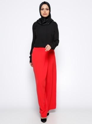 Pantolon Etek - Kırmızı Appleline