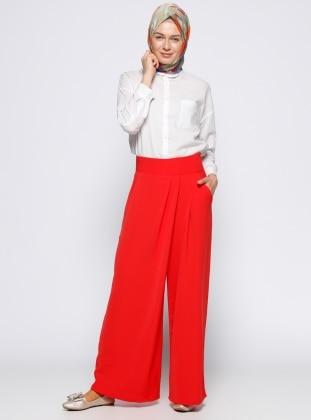 Pantolon Etek - Kırmızı